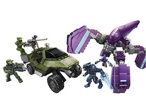Mega Bloks Halo Wars UNSC Gausshogg vs Covenat Locust