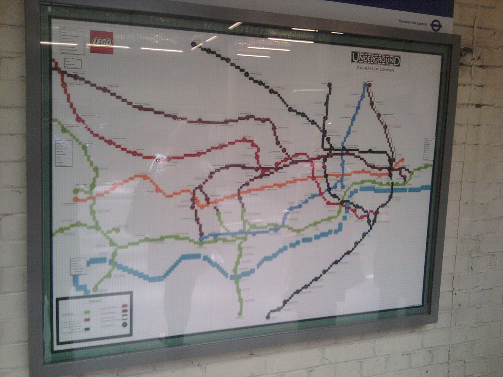 LEGO 1927 Underground map at South Kensington