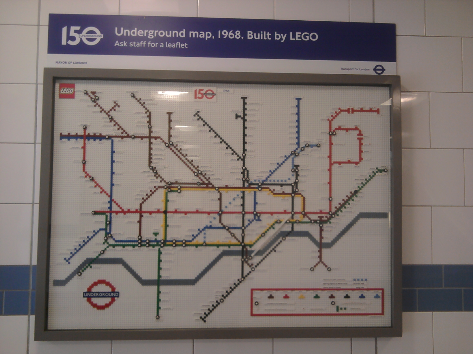 LEGO 1968 Underground map at Green Park