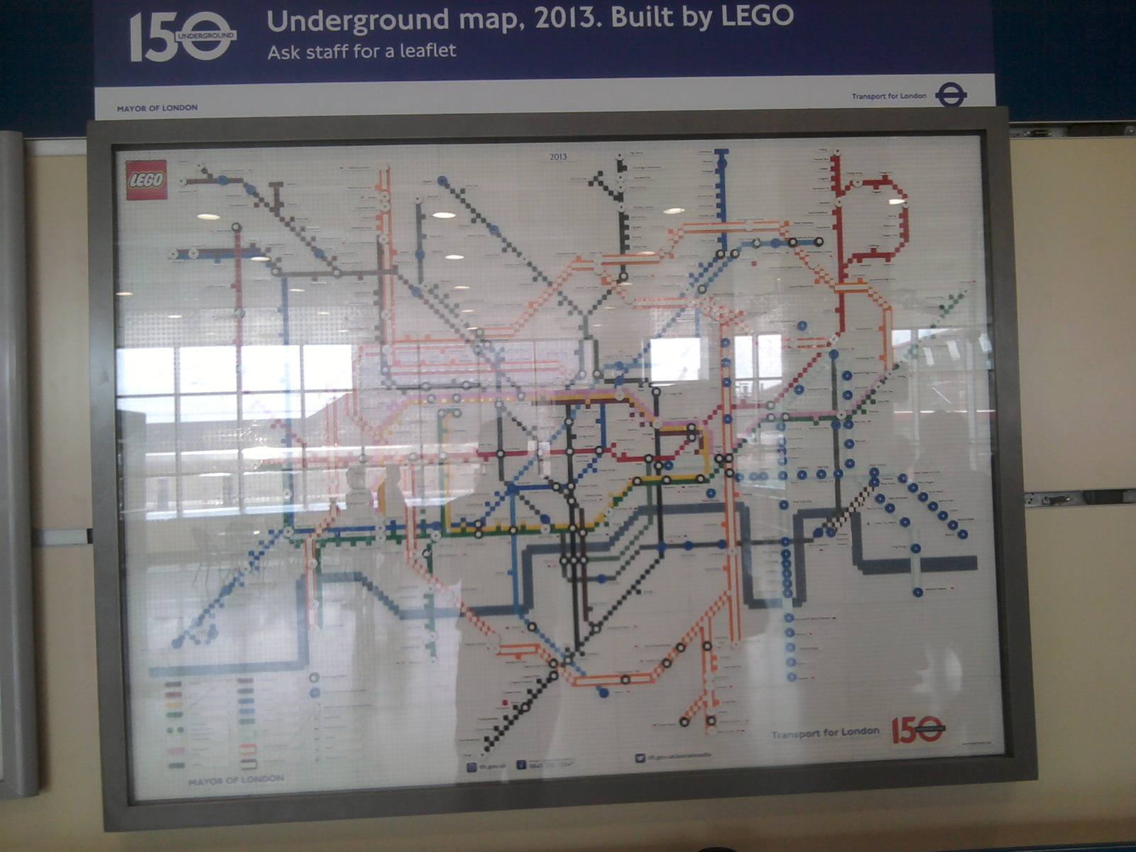 LEGO 2013 Underground map at Stratford Station