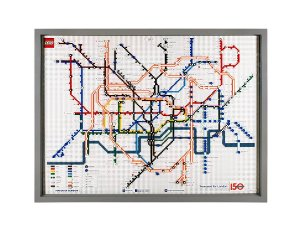 Lego 2013 Tube Map displayed at Stratford Station 300x225