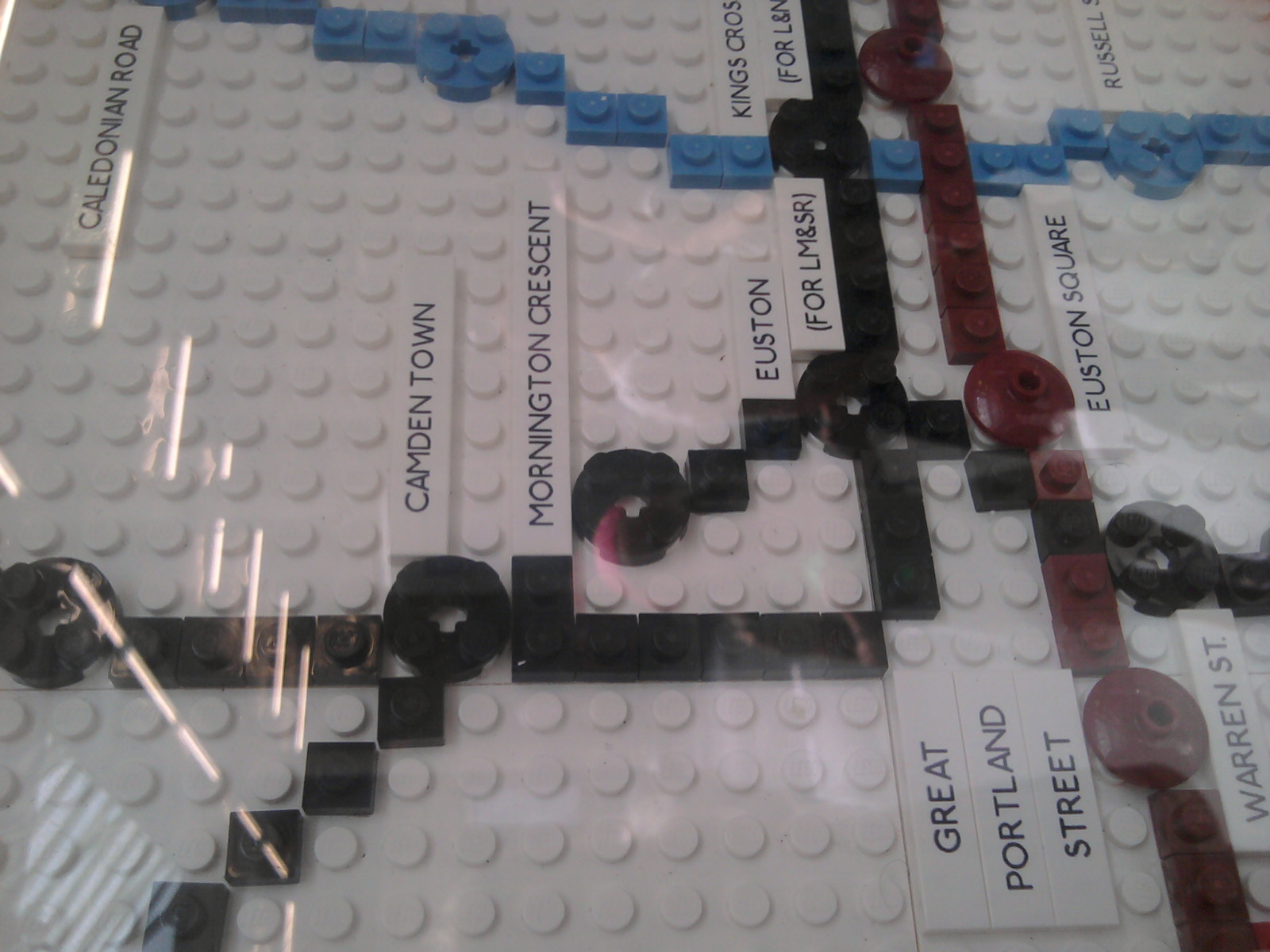 Mornington Crescent 1927 LEGO rules or a map at South Kensington Underground station