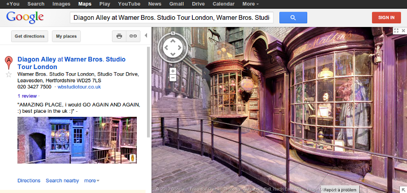 Harry Potter Diagon Alley Watford London Google Street View