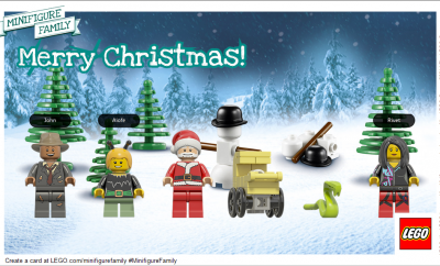 Minifigure Family Christmas Card