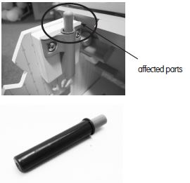 Recalled ELC Rosebud Country Dolls House affected parts - black and white picture