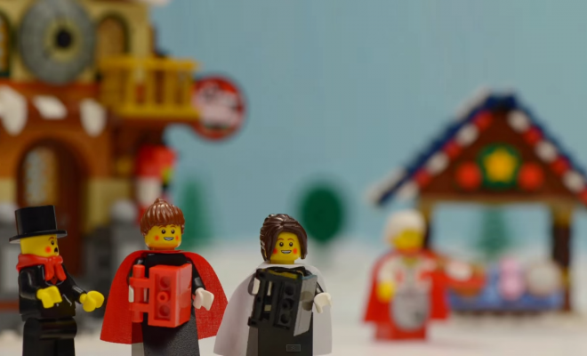 Season's Greetings LEGO-Style by DMI Productions of Ashford, Middlesex