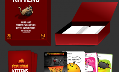 Exploding Kittens Box Prototype