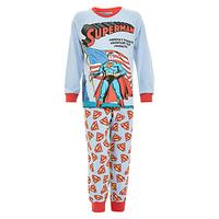 Superman Flag Pyjama Set, Light Blue