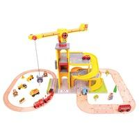 Bigjigs Rail Road & Rail Multi-Level Crane Set from Hamleys