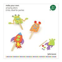John Lewis Amazing Aliens Party Pack of 6, Assorted