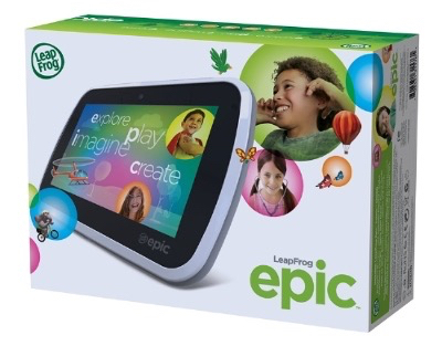 LeapFrog Epic : box of the new Android tablet for children