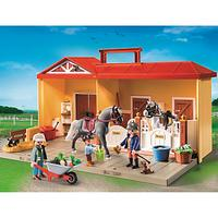 Playmobil Country Horse Stable Take Along Play Set
