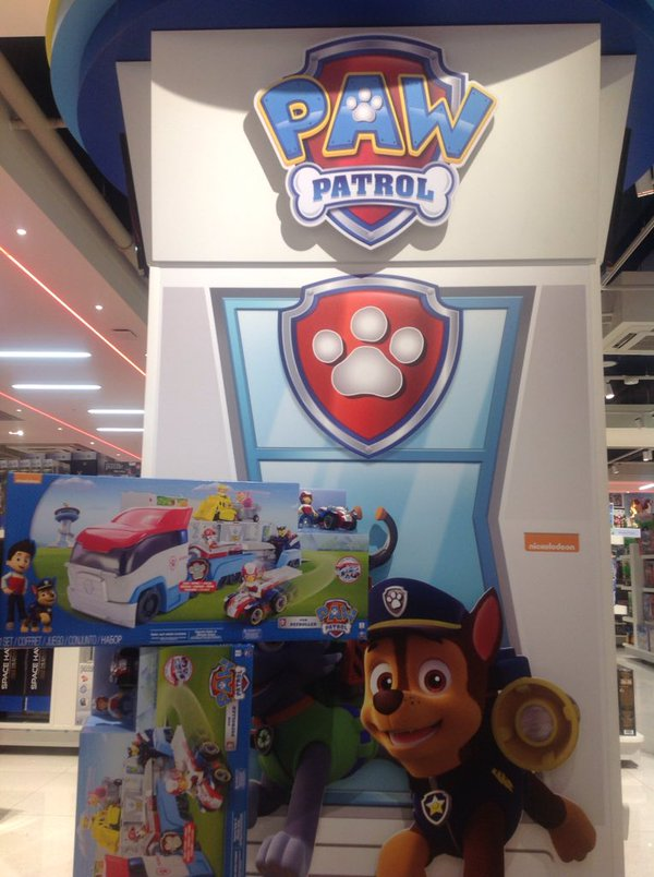 paw patrol in the toy store