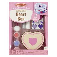 Melissa & Doug Decorate-Your-Own Wooden Heart Chest