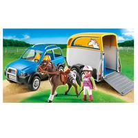 Playmobil SUV With Horse Trailer 5223 from Hamleys