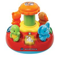 VTech Baby Push and Play Animal Spinning Top