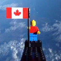 Lego Man in Space launch from Canada