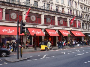 Outside of Hamleys on London's Regent Street