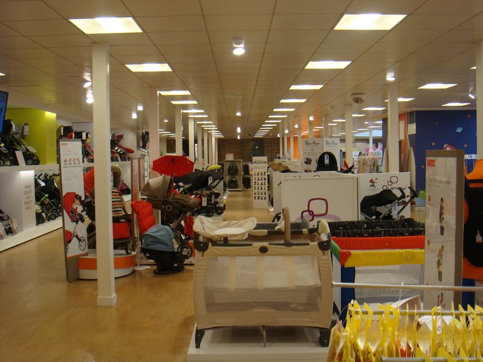 Bugaboo, Quinny, Stokke, Silver Cross and more all on display at Mothercare.