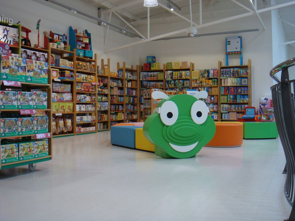 Bookworm feature in the ELC concession in Mothercare Edmonton.