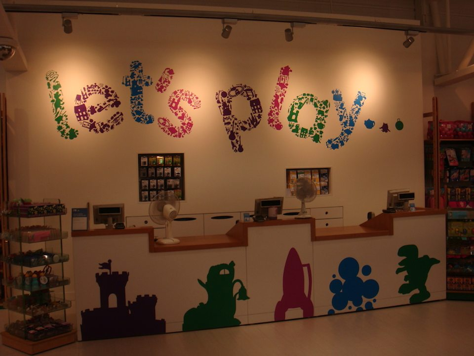 """Early Learning Centre """"Let's Play"""" cash desk in Mothercare Edmonton."""