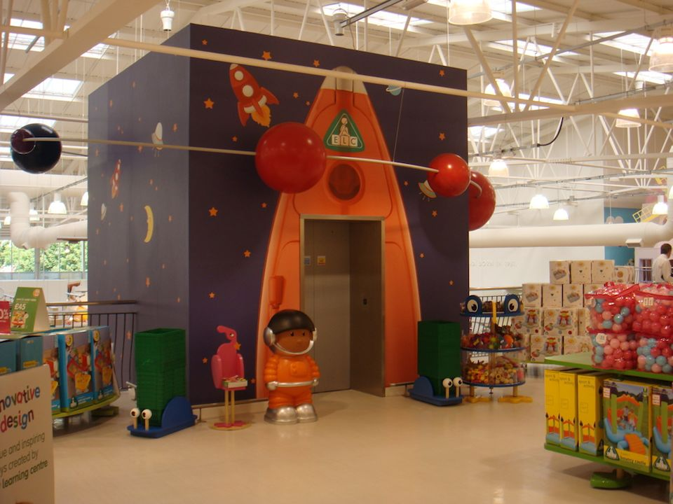 We've landed o the upper floor of Mothercare Edmonton; now it's time to play with all those ELC toys.