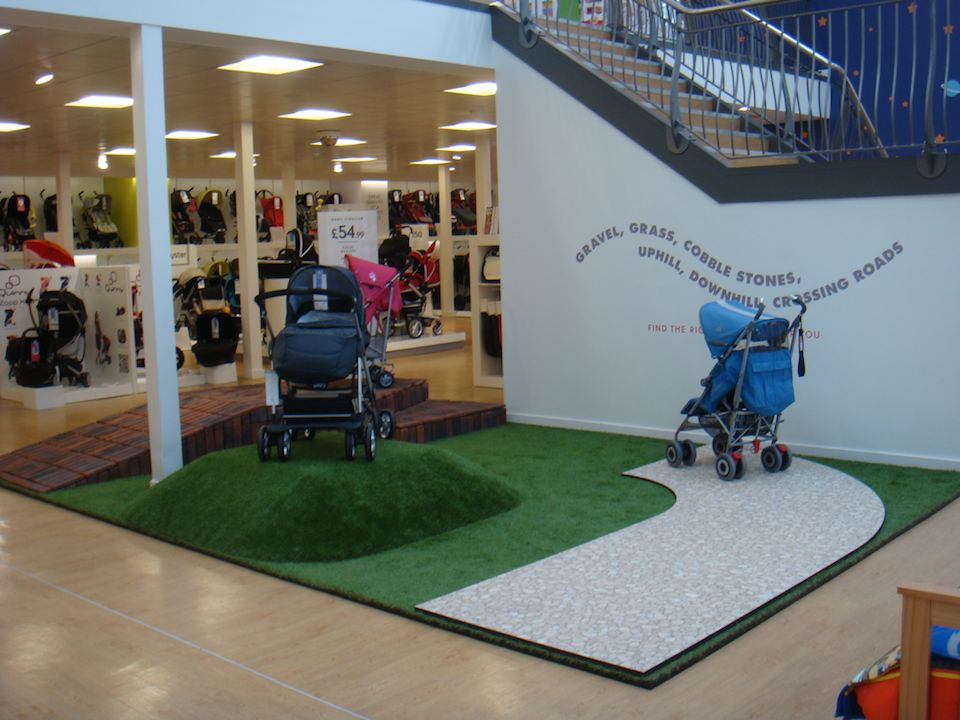 Test drive pushchairs before you buy.