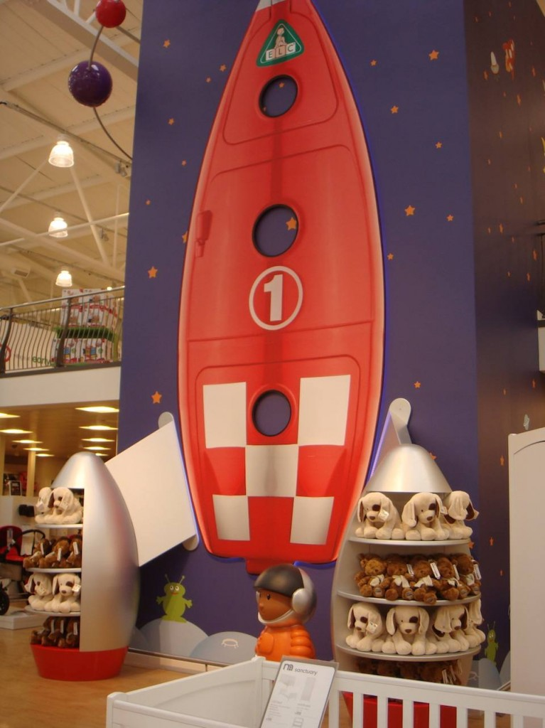Another Mothercare tree has gone, now an ELC rocket takes you to the first floor.
