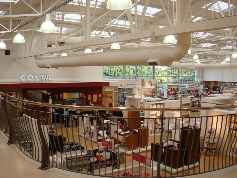 A view of just a fraction of the newly refurbished Mothercare warehouse-sized store in Edmonton, London/