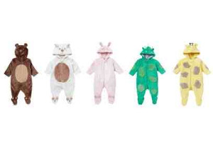 Recalled Mothercare All In One Baby Dressup hooded garments