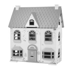 Recalled ELC Rosebud Country Dolls House - black and white picture