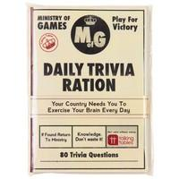 Talking Tables Ministry of Games A6 Trivia Ration Notebook