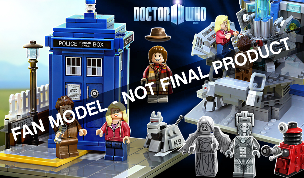 LEGO Ideas 12 Doctor Who and Companions by Andy Clark