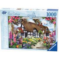 Country Cottage Collection, Rose Cottage 1000pc Puzzle from Hamleys