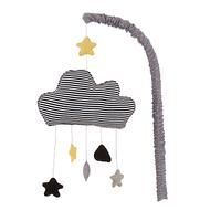 John Lewis Baby Cloud And Stars Mobile, Grey