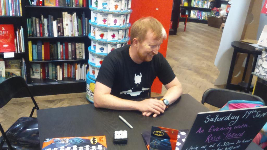 Rorys Story Cubes: Batman launches at Waterstones Islington