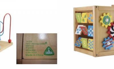"The risk of mould forming on batches wooden toys sold by Early Learning Centre and Mothercare has lead to a public recall. The affected products are ELC Giant Wooden Activity Cube and Mothercare Giant Wooden Activity Cube. Both products, which are similar in design, were made by the same manufacturer in China. In a recall notice, the parent company of these two retail brands stated: ""...the products may have been exposed to damp or humid conditions which could lead to mould forming."" Mould can be harmful to health. Inhaling or touching mould spores may cause an allergic reaction, mould could also cause an asthma attack. Babies and children can be particularly sensitive to mould spores, especially those with : existing skin problems, such as eczema; respiratory problems, including asthma; and those with a weakened immune system. Only specific batches of these products are affected by this recall. They are: ELC GIANT WOODEN ACTIVITY CUBE Catalogue/SKU number : 141224 Batch code : GJ09-15-D1 MOTHERCARE GIANT WOODEN ACTIVITY CUBE Catalogue/style code : H2668 Batch code : GJ11-15-D1 If you have either of these products, you should take them to a Mothercare or an Early Learning Centre store for a full refund or contact one of the following telephone numbers:- ELC Helpline : 0871 231 3511 Mothercare helpline : 0344 875 5111 These telephone lines are staffed from Monday to Saturday 8am-8pm, Sunday and bank holidays 9am-5pm. Calls charged at 10p per minute plus standard network charges. Further evidence : Mothercare and ELC's public recall notice"