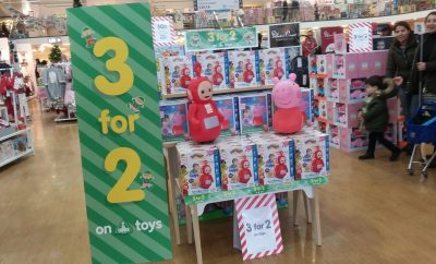 3 for 2 on Toys at Early Learning Centre and Mothercare includes brands