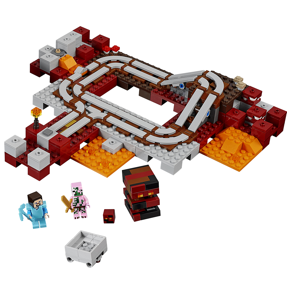 Lego Minecraft Six New Sets Added The Toy Detectives 21132 Jungle Temple Nether Railway 21130