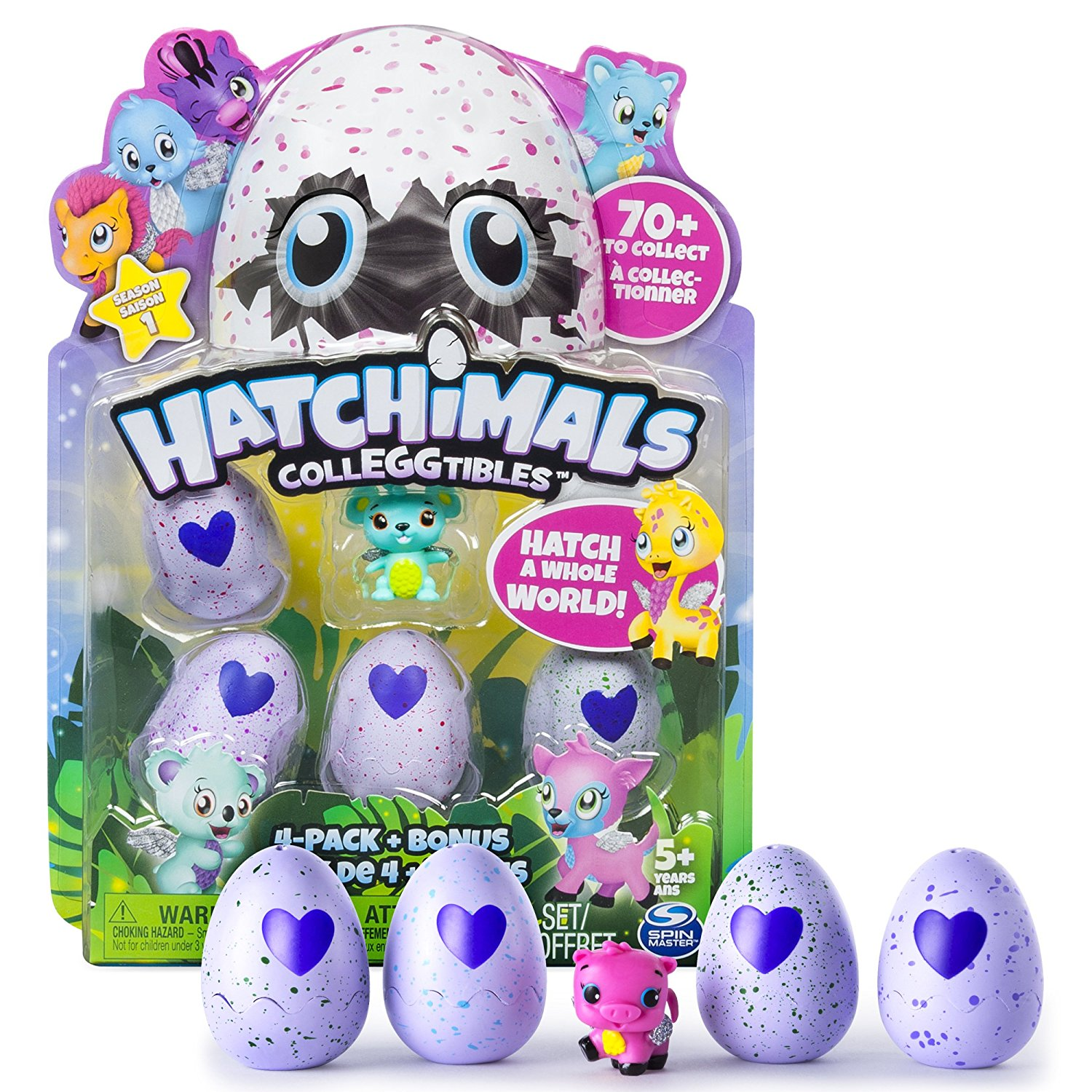 Dream Toys 2017 Hatchimals Colleggtibles 4-pack + bonus