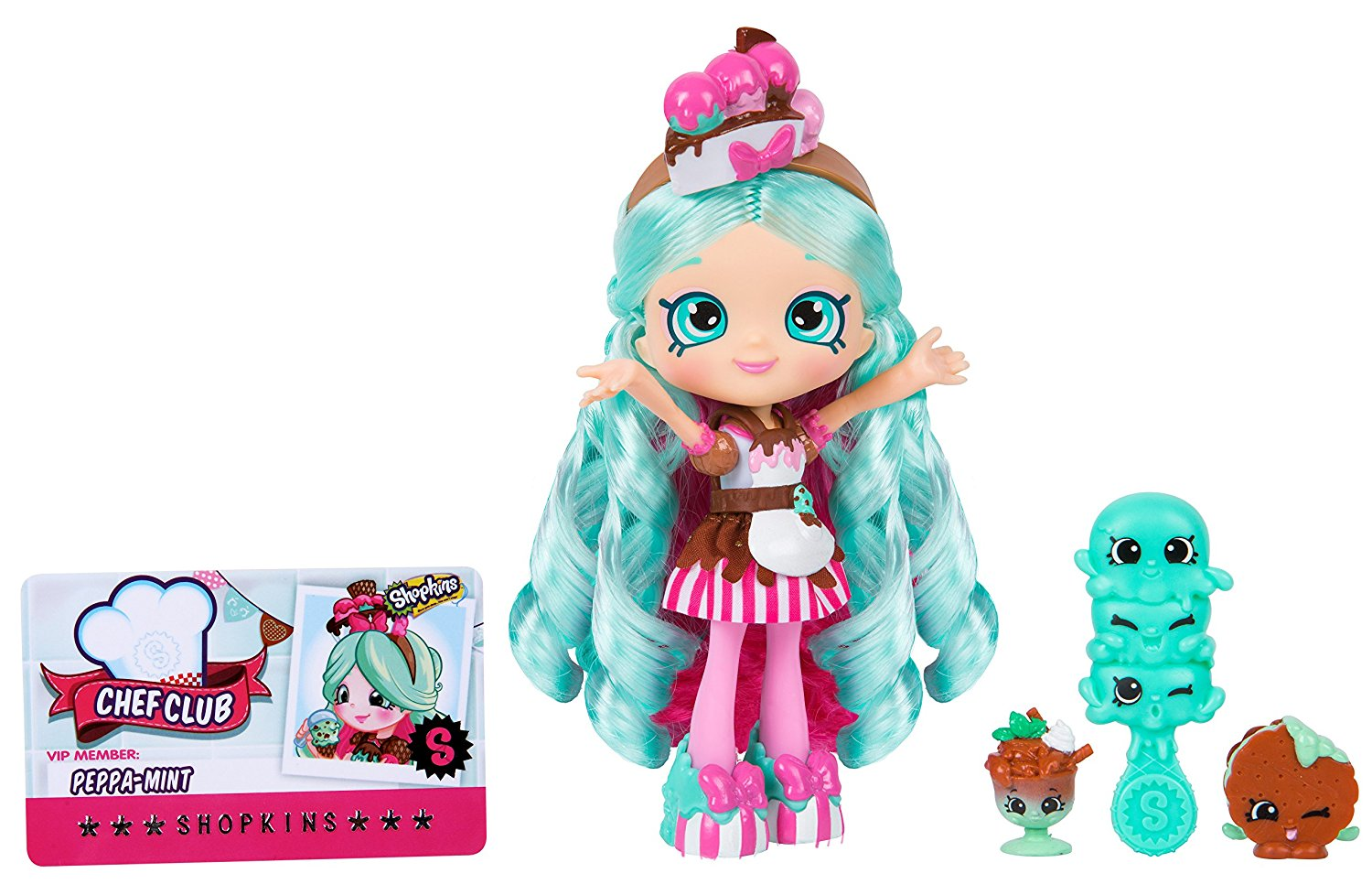 Dream Toys 2017 Shopkins Shoppies Chef Club Dolls - Peppamint