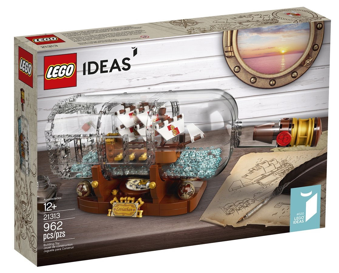 LEGO Ideas Ship in a Bottle - front of box