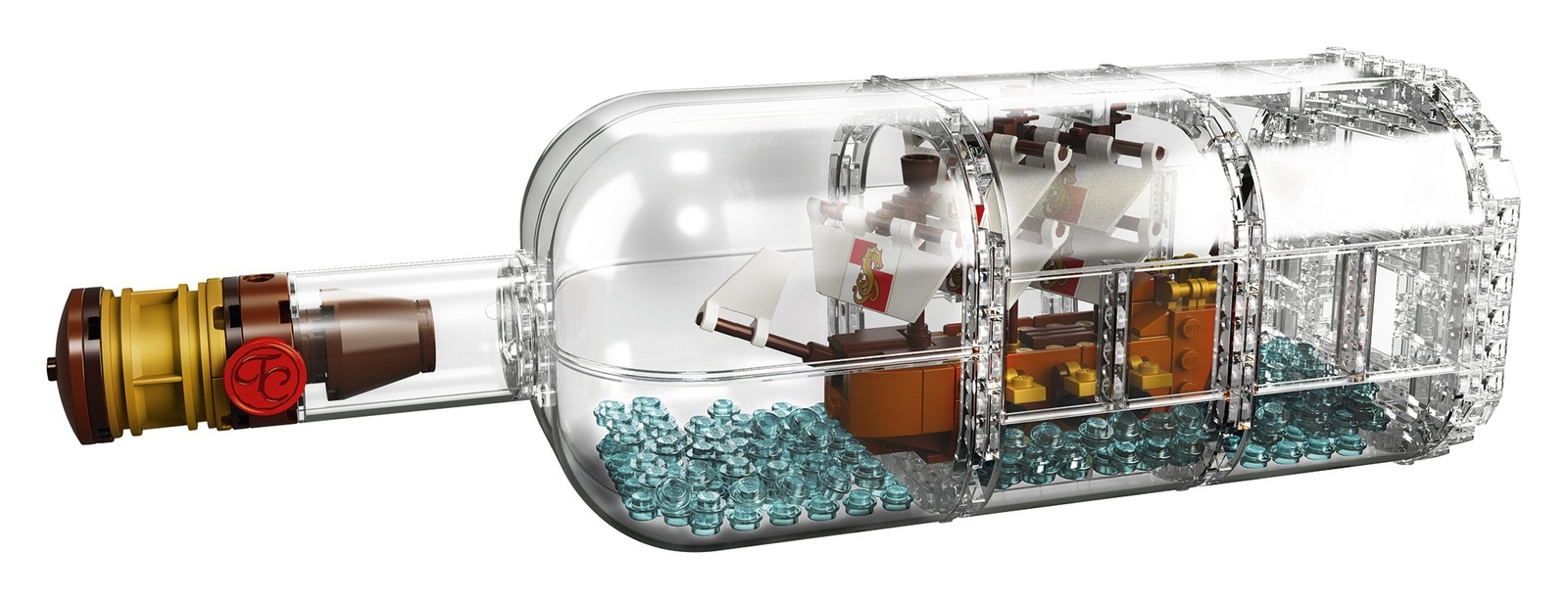 LEGO Ideas Ship in a Bottle - off stand