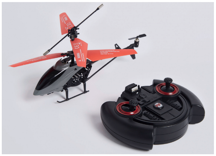 Recalled Marks & Spencer AI Copter - Remote controlled helicopter due to overheating risk.