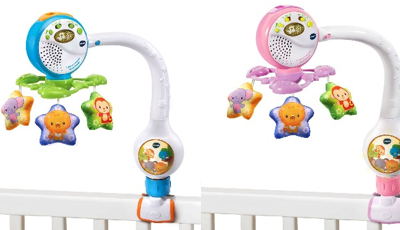 Recalled VTech Lights and Lullabies Travel Cot Mobiles due to injury risk.