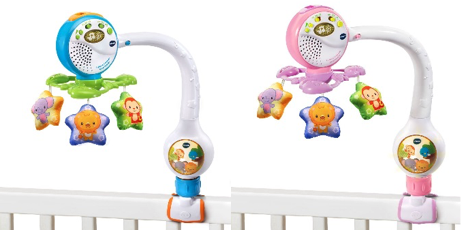 Recalled VTech Lights & Lullabies Travel Cot Mobiles due to injury risk.