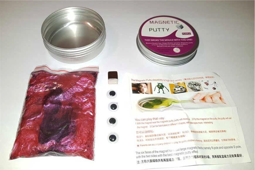 Unsafe Magnetic Putty - the contents of product banned by trading standards