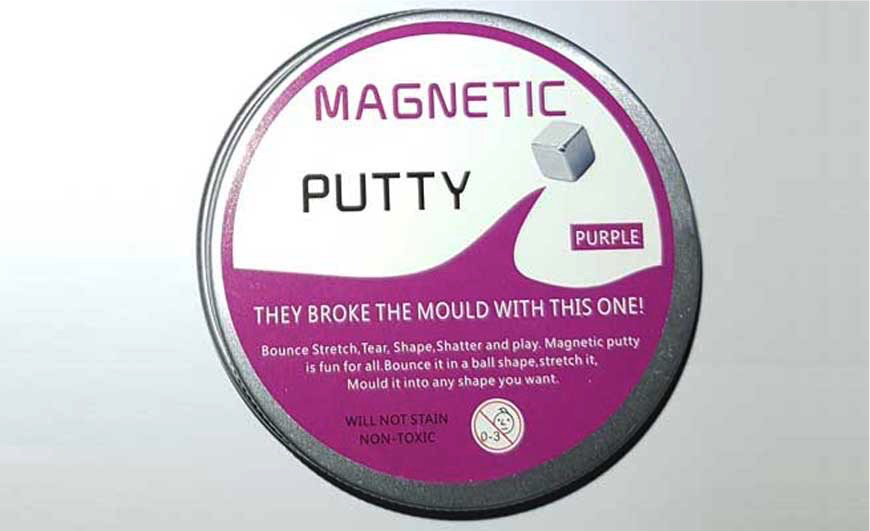 Unsafe Magnetic Putty with too much arsenic