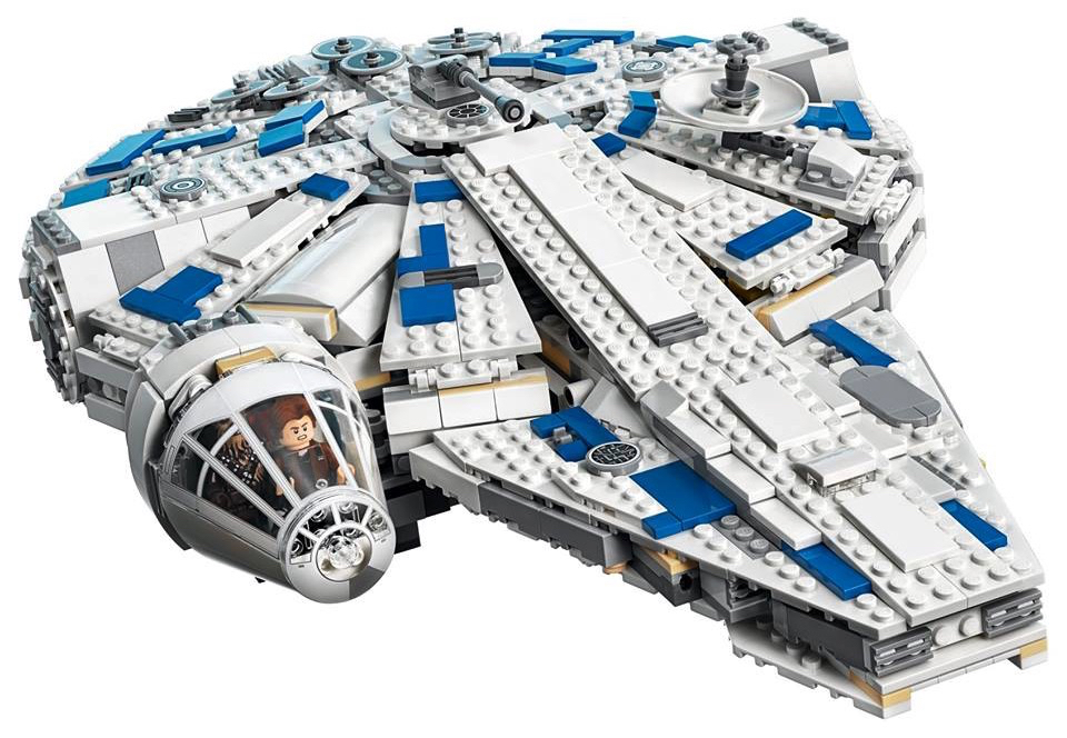 LEGO Kessel Run Millennium Falcon from Solo: A Star Wars Story - front view.