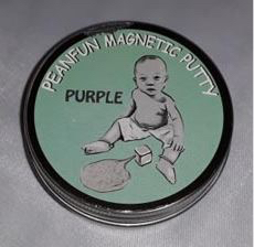 Recalled Peanfun Magnetic Putty with picture of baby on the lid.